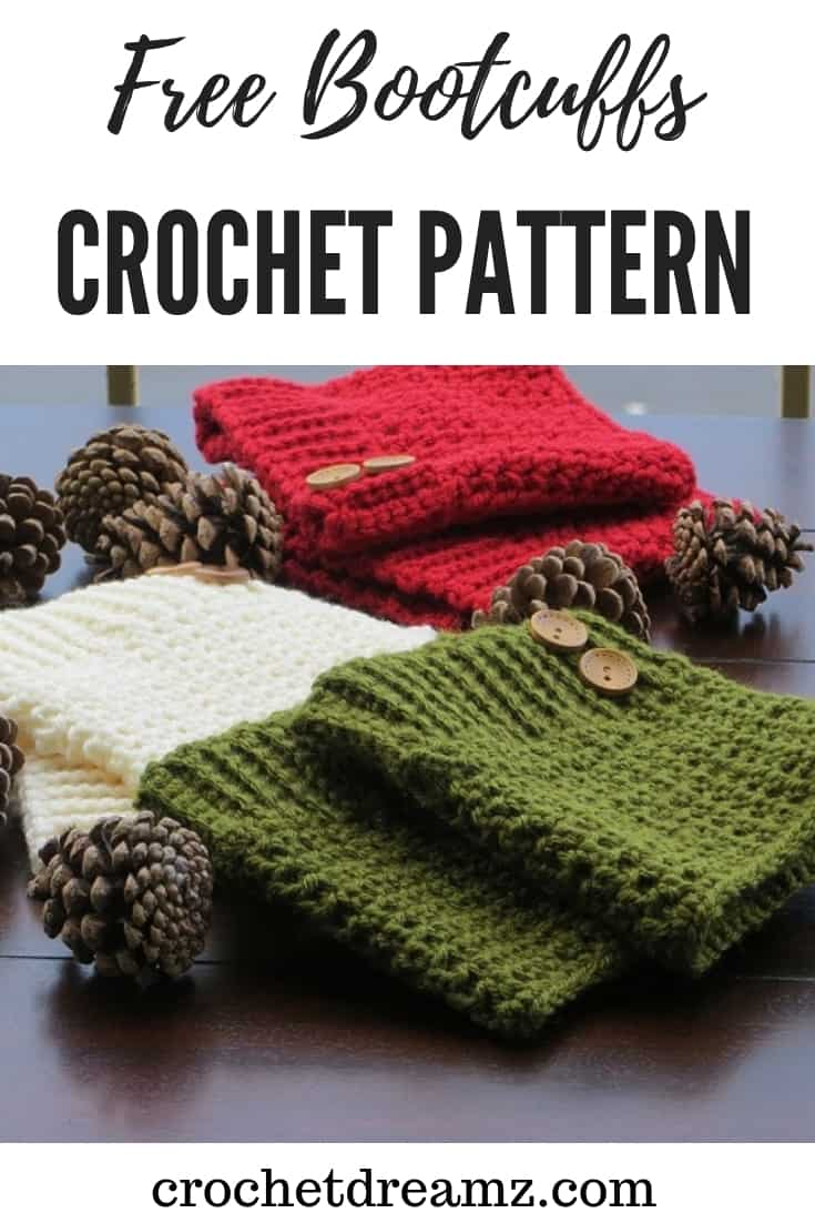 A classy boot cuffs crochet pattern that would be great for gifts or for craft fairs. Make a pair today.