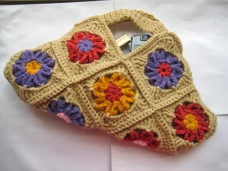 Floral Bag Granny Square Bag Free Crochet Pattern Crochet Dreamz
