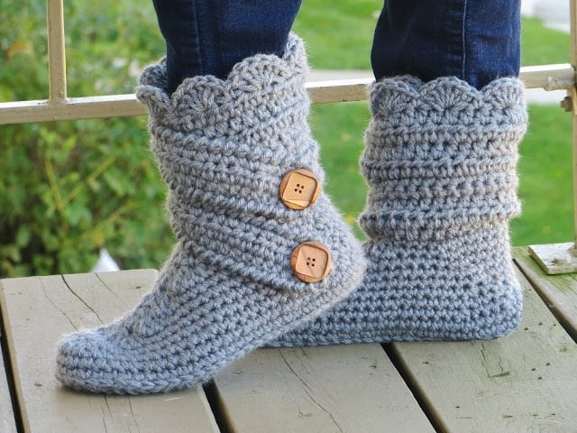 Boots Slipper Crochet Pattern
