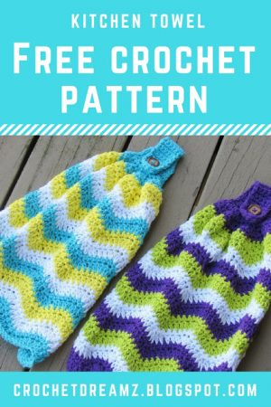 Chevron Kitchen Towel Free Crochet Pattern Crochet Dreamz