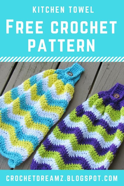 Chevron Kitchen Towel Free Crochet Pattern Crochet Dreamz