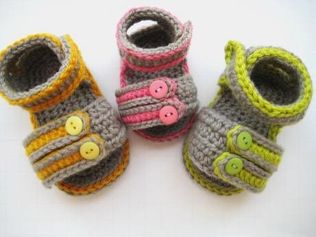 Sporty Sandals For Boys Or Girls Crochet Baby Booties Pattern Pdf