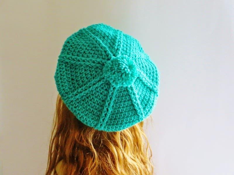 Brittney Beret Crochet Pattern 3 Months To Woman Pdf Hat Crochet