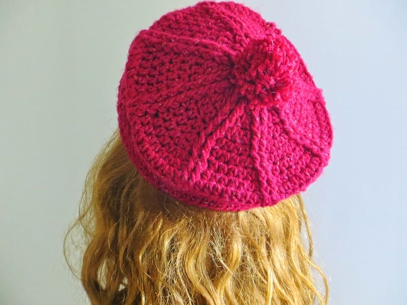 Brittney Beret Crochet Pattern 3 Months To Woman Pdf Hat Crochet