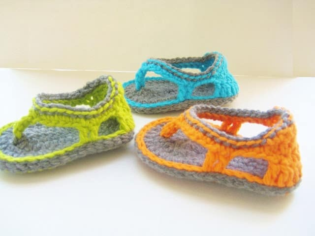 Trekkers Crochet Pattern, Flip Flop