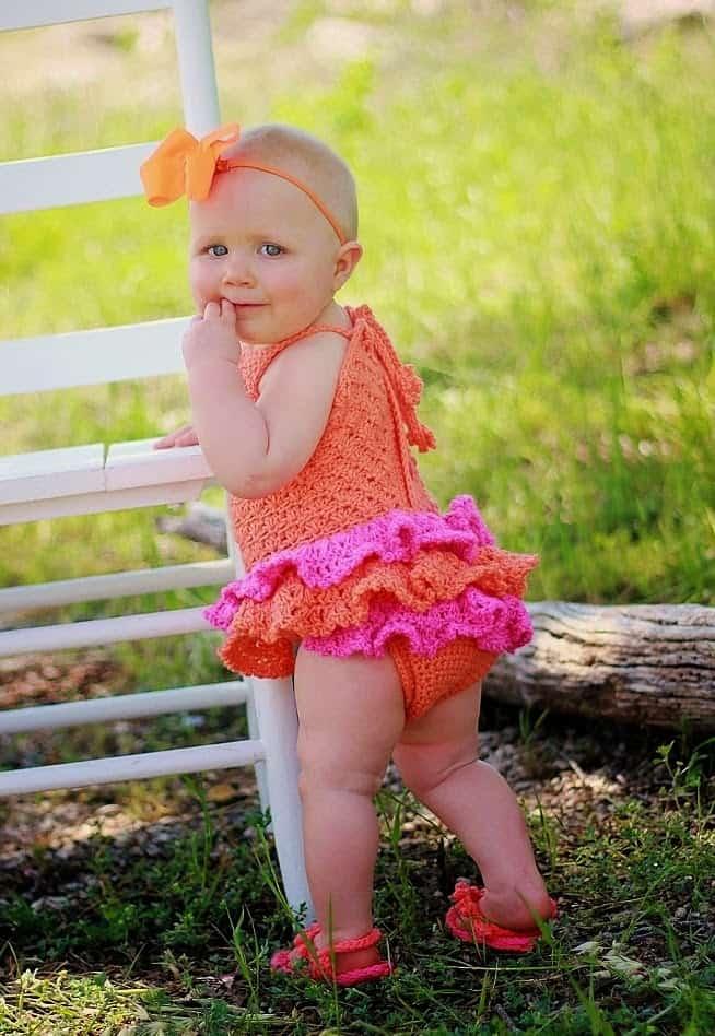 Baby Sun Suit Romper Crochet Pattern Newborn To 2 Years
