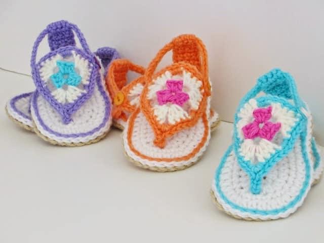Free Crochet Baby Sandals