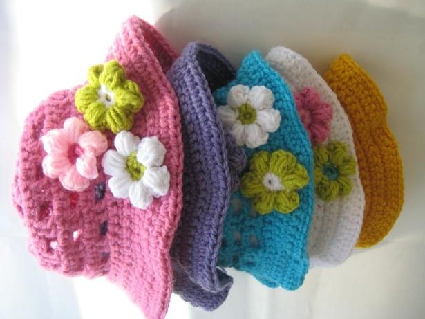 Crochet Sun Hat Pattern For Girls Newborn To 10 Years Pdf Pattern