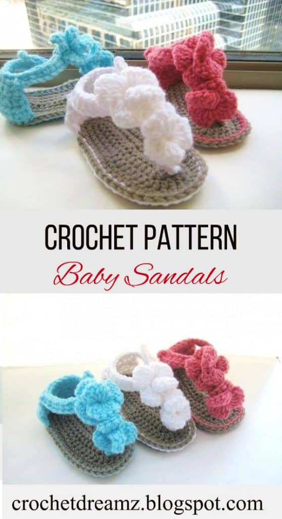 Orchid Sandals Crochet Baby Booties Pattern Crochet Dreamz