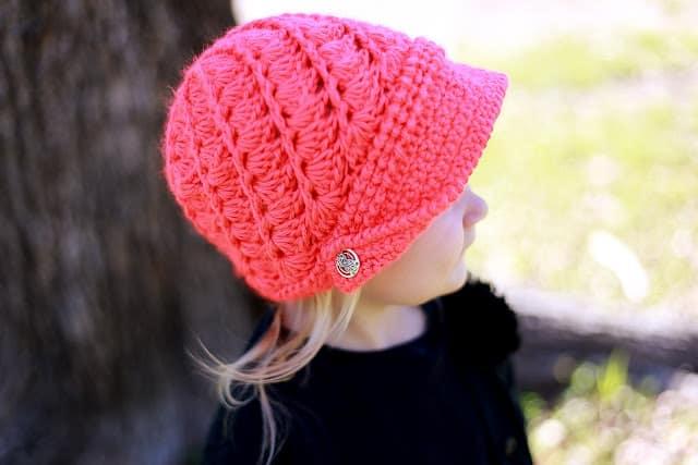 fd0022d8b Audrey Newsboy Hat Crochet Pattern, Baby to Woman - Crochet Dreamz