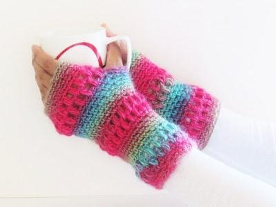 Boutique Fingerless Gloves or Mittens, Free Crochet Pattern ...