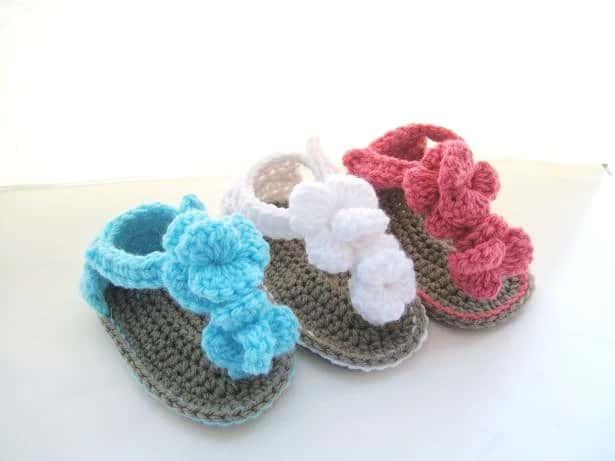 Orchid Sandals Crochet Baby Booties Pattern Crochet Dreamz