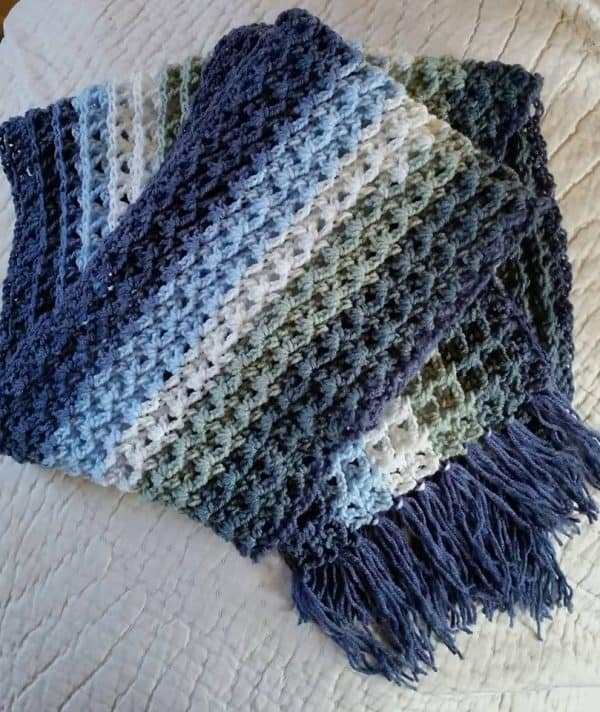 Ocean Waves Scarf Free Crochet Scarf Pattern Using Caron Cakes Yarn