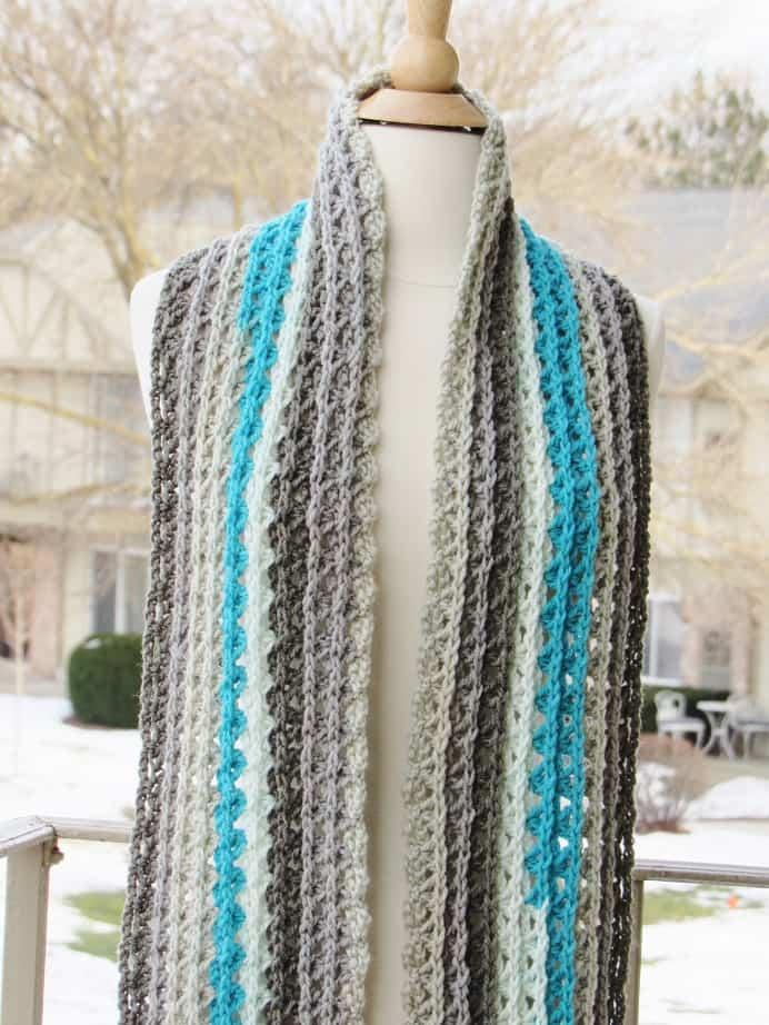 Ocean Waves Scarf Free Crochet Scarf Pattern Using Caron