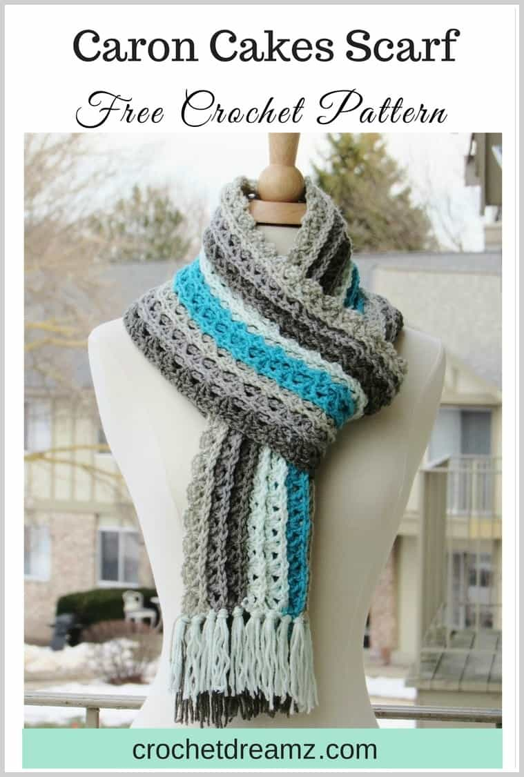 Ocean Waves Scarf Free Crochet Scarf Pattern Using Caron Cakes Yarn