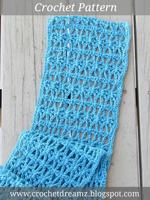 Ana Lacy Scarf Free Lacy Scarf Crochet Pattern Crochet Dreamz