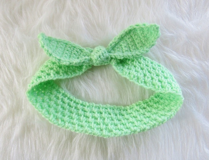 Crochet Headband in Green