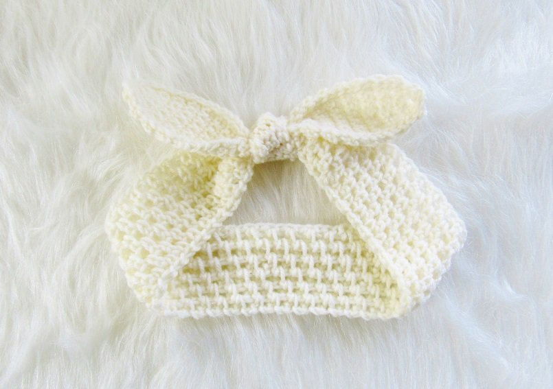 Crochet Headband with a Knot