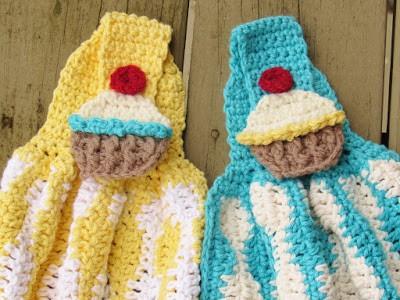 Cup Cake Kitchen Towel Crochet Pattern Free Crochet Pattern Interesting Crochet Kitchen Towel Pattern