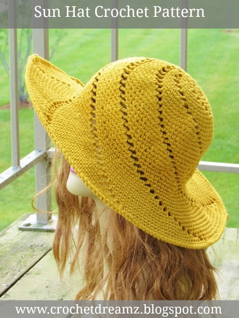 Sun Hat Crochet Pattern
