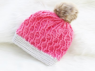 Crochet Hat Pattern with Cables