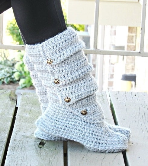 Slouch Boots Crochet Pattern Slipper Crochet Pattern Us Shoe Sizes