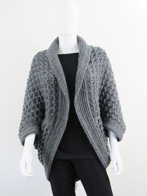 Textured Cocoon Cardigan Crochet Pattern Crochet Dreamz