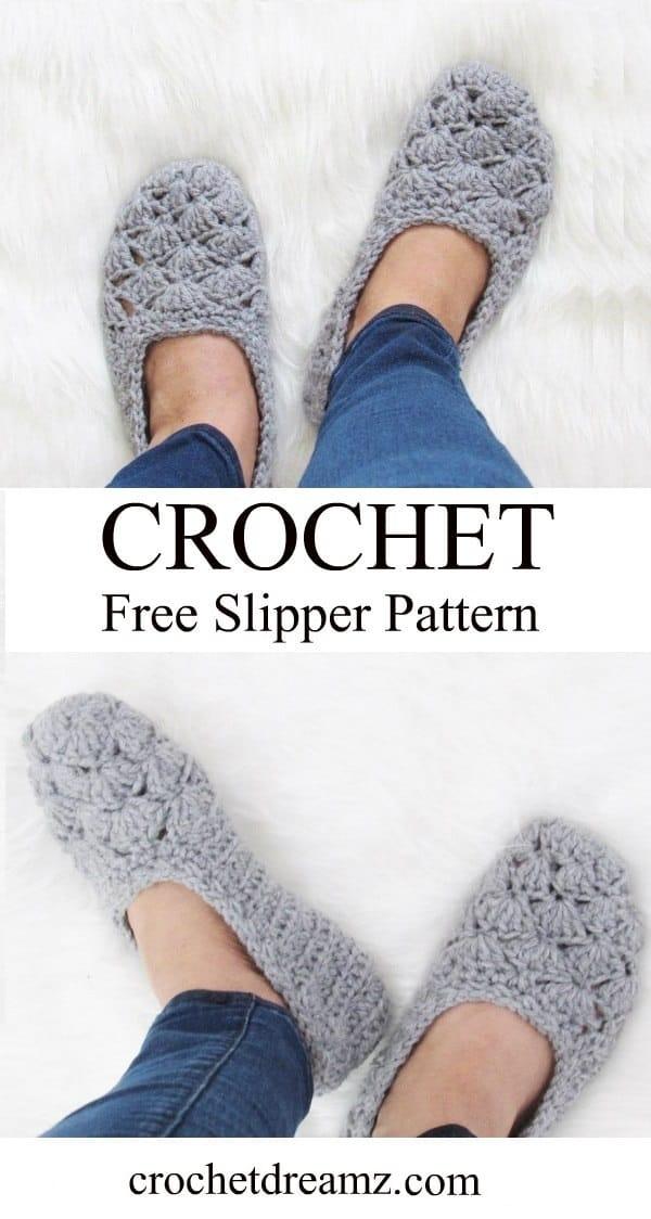Free Crochet Slipper Pattern Very Easy Crochet Dreamz