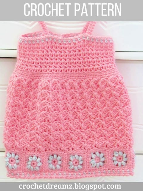 Floral Baby Dress Crochet Pattern Crochet Dreamz