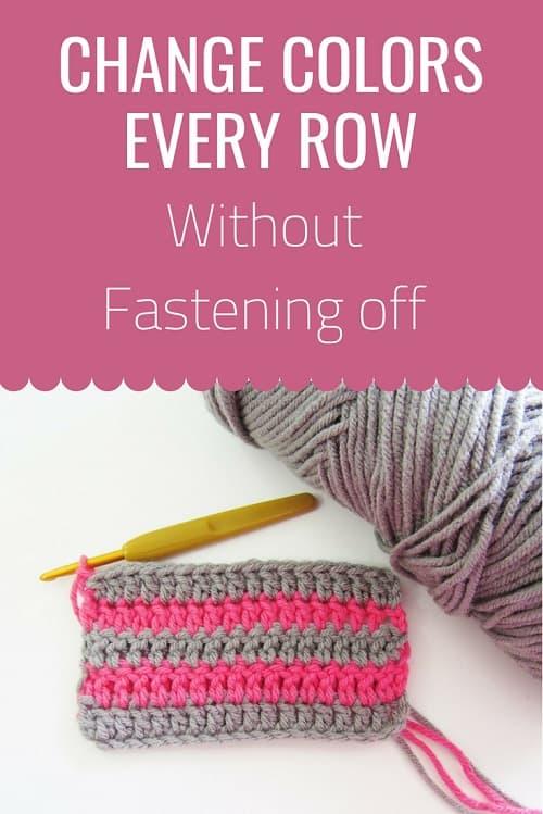 Learn to change colors in crochet every row without fastening off. Use this technique and you can make striped afghans without having gazillion ends to weave in.