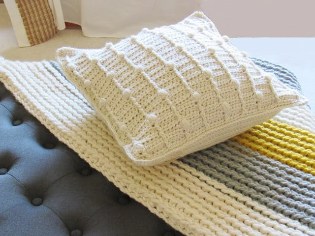 Crochet Bobble Pillow Pattern