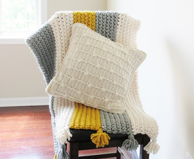 Free Textured Crochet Pillow Pattern