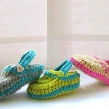 Crochet Slippers for Baby - 0-12 Months - $5