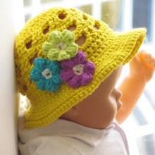 Girl's Sun Hat- Baby to 10 years- $5.50