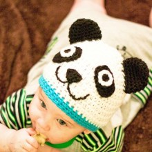 Panda Hat- Newborn to Woman- $5