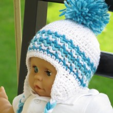 Hayden Ear Flap Hat- Baby to Man- $5