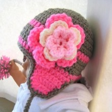 Madison Ear Flap Hat- Unisex- Newborn to Adult Sizes - $5