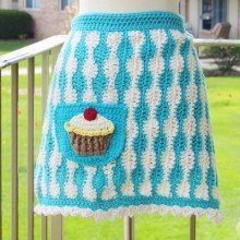Baker's Apron with Cupcake Applique