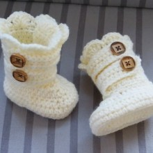 Baby Classic Snow Boots, 0-3 Months up to One year- $5.50
