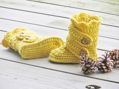 Child's Classic Snow Boots Crochet Pattern, US Kid's sizes 9 to 4 - $5.50