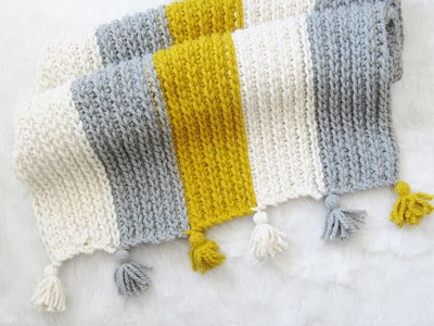 Knit Look Chunky Blanket