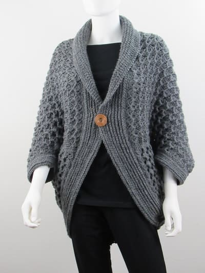 Textured Cocoon Shrug- XS to XXL