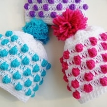 Polka Dot Beanie- Newborn to Woman- $5