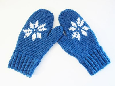 Snowflake Mittens for Women