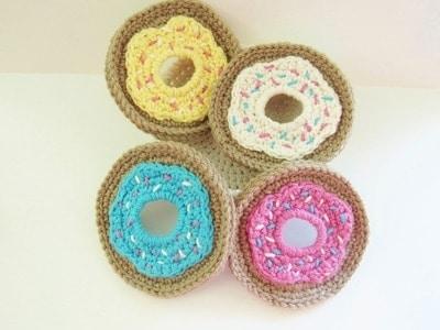 Doughnut Coasters and Holder Set