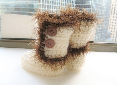 Baby Furry Boots - 0-12 Months- $5
