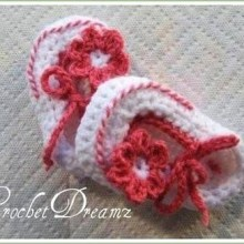 Keyhole Booties - 0-12 Moths - $5