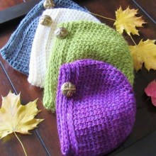 Knit Look Beanie- Baby to Adult - $5