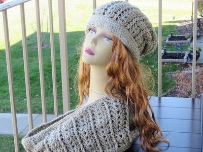 Isabel Slouchy Hat and Cowl, Sizes 3 months to Woman -$5