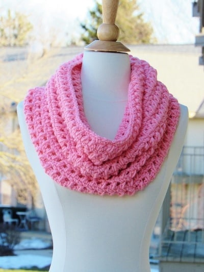 One Skein Chunky Cowl